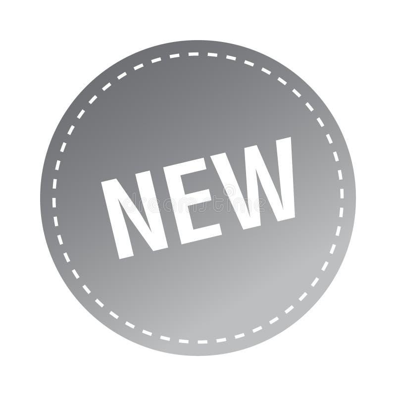 Ny klistermärke/stämpel vektor illustrationer