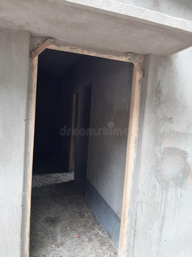 Ny konstruerad dörr utan slutare arkivfoton