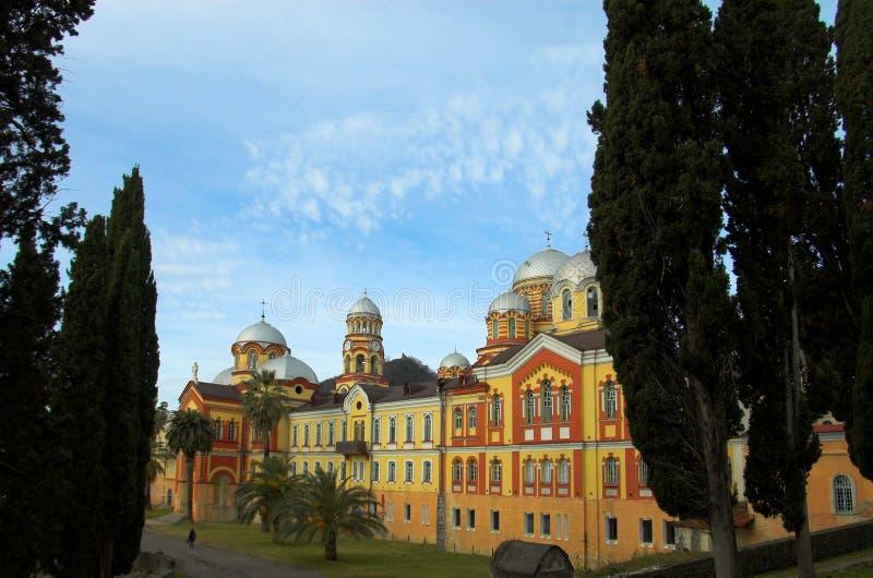 ny kristen kloster för athos royaltyfri foto