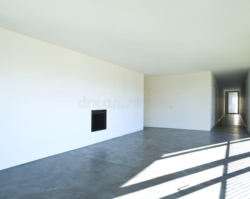Ny lägenhet för inredesign Vardagsrum och korridor arkivbild