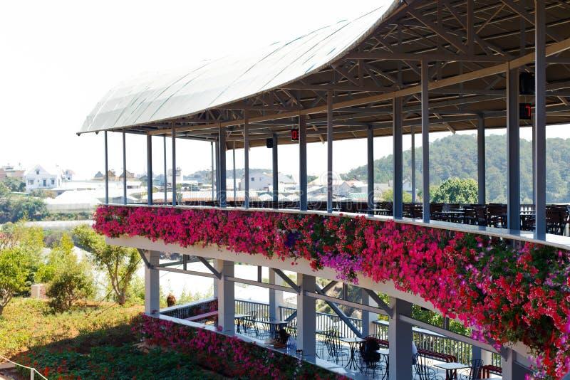 NY LANTGÅRD för DALAT - pittoresk blommaträdgård och ställe för att besöka i Da-Lat royaltyfri foto