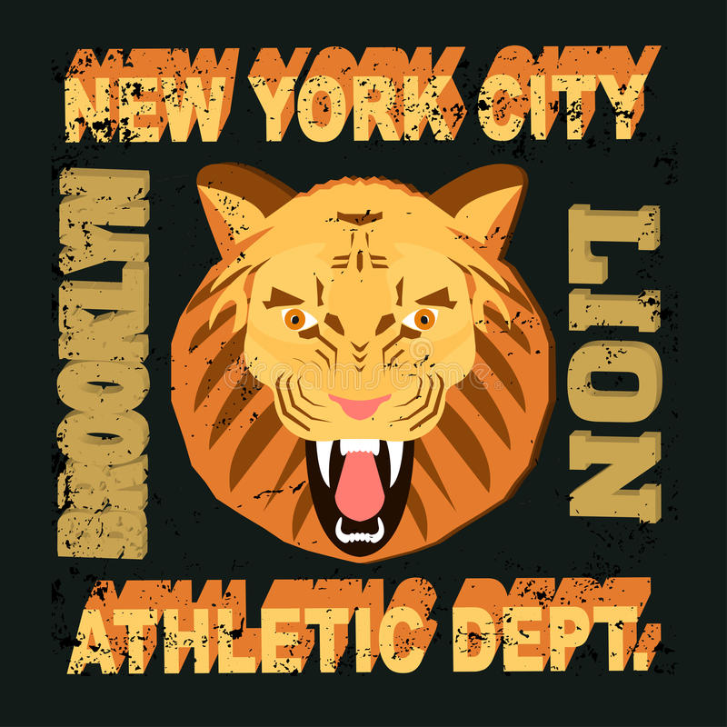 Ny lion vector illustration