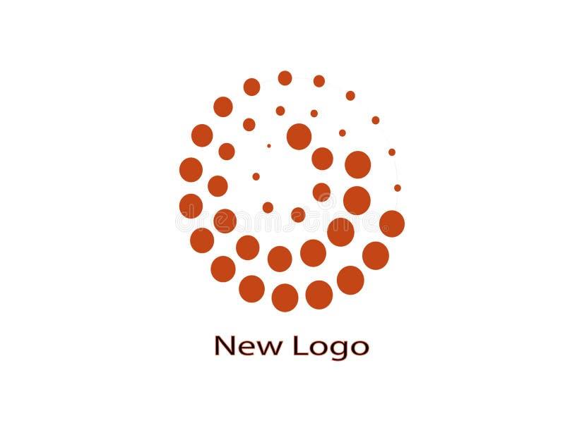 Ny logo och illustration royaltyfri bild
