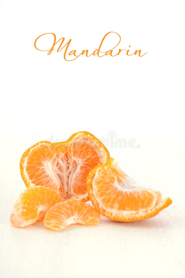 Ny mandarin och segment royaltyfri foto