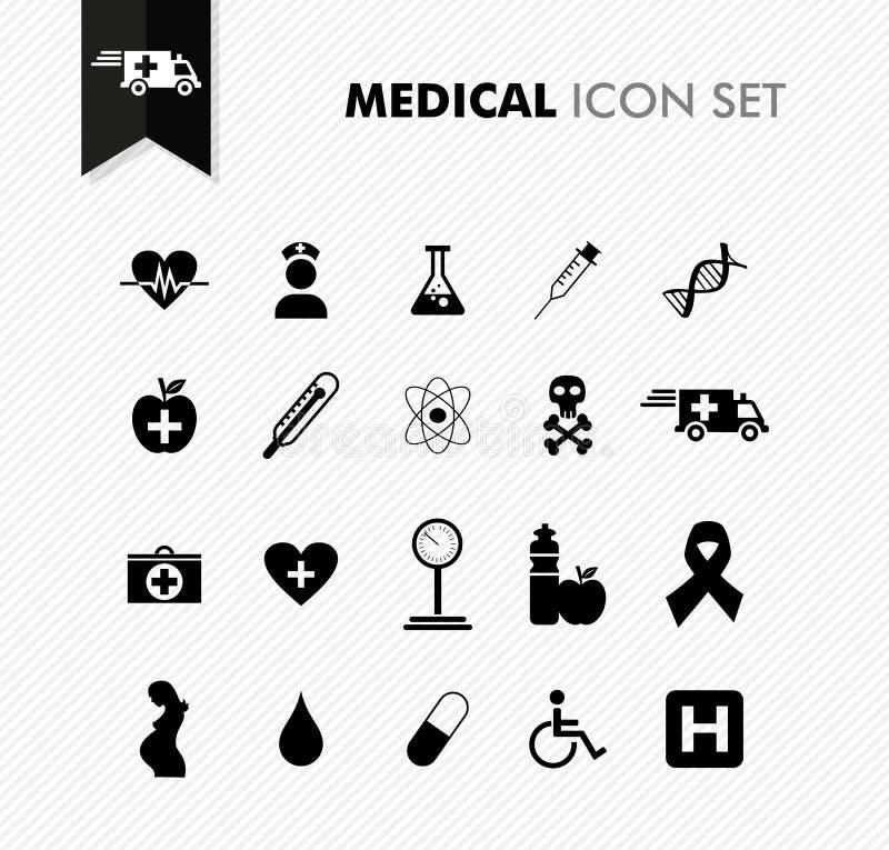 Ny medicinsk symbolsuppsättning. vektor illustrationer