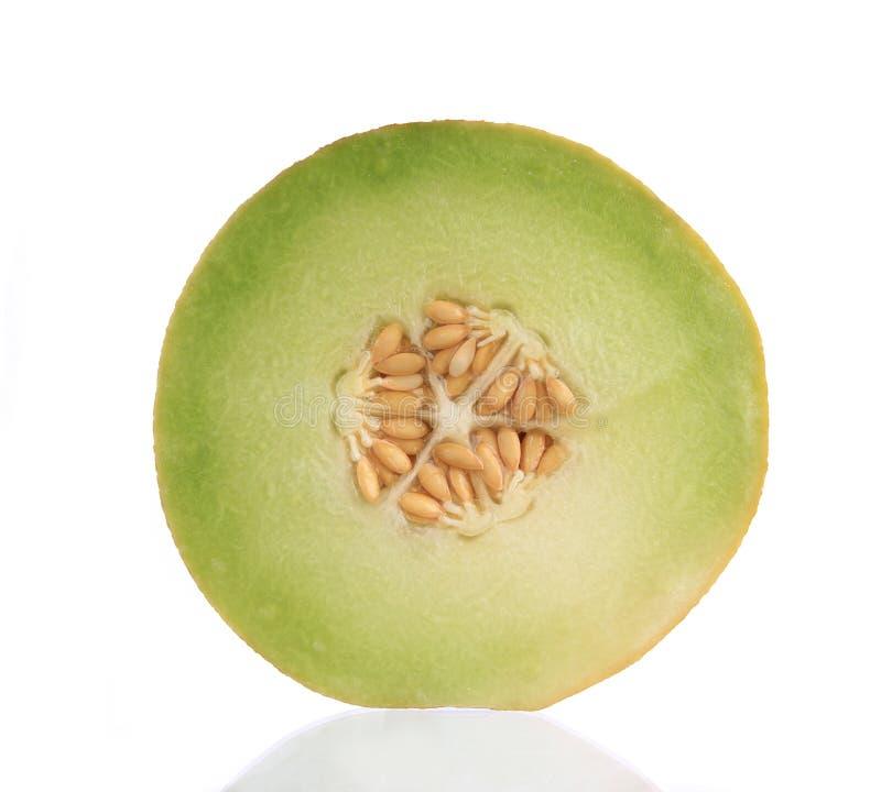 Download Ny melon för cantaloupe fotografering för bildbyråer. Bild av vitt - 19791021