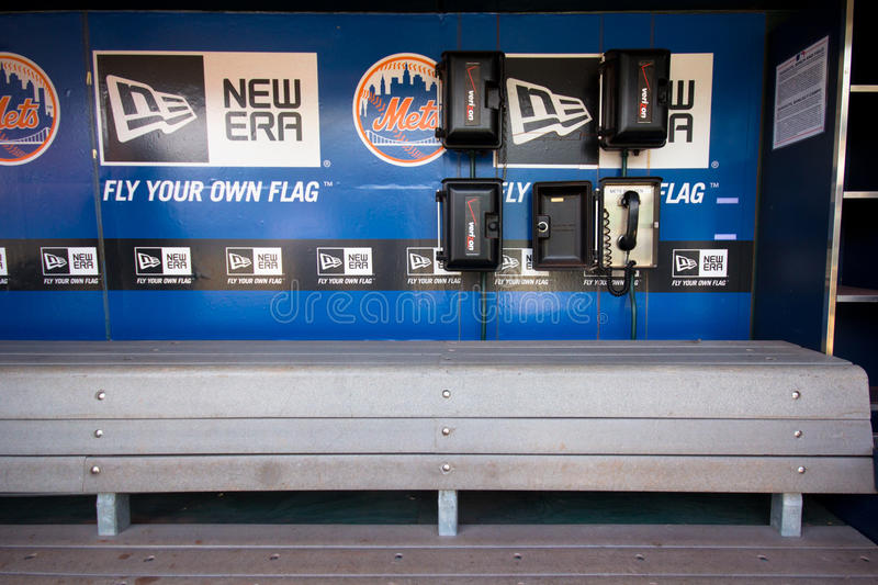 NY Mets Dugout stock foto's