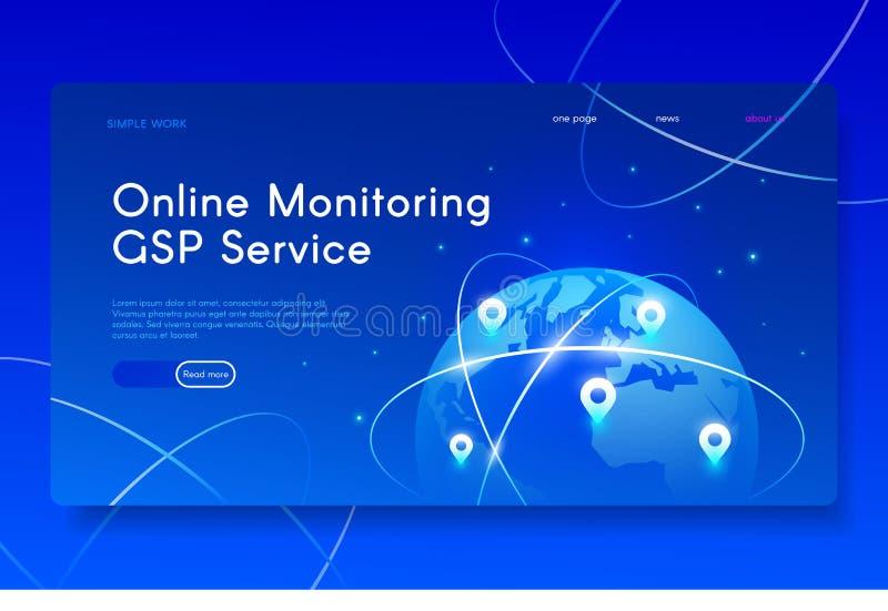 Ny mobil GPS service Modern isometrisk rengöringsdukillustration royaltyfri foto