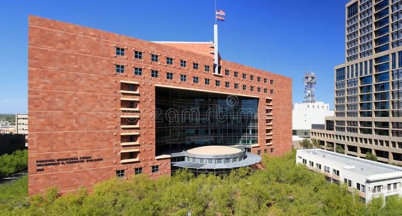 Ny modern byggnad Phoenix för kommunal domstol royaltyfria bilder