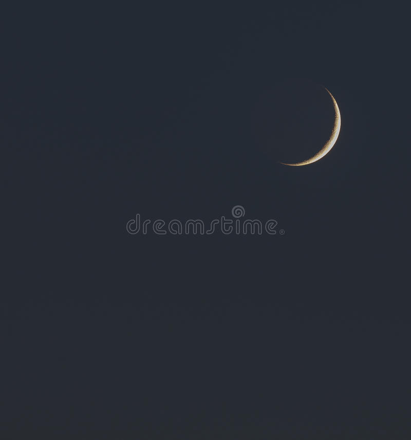 ny moon royaltyfri fotografi