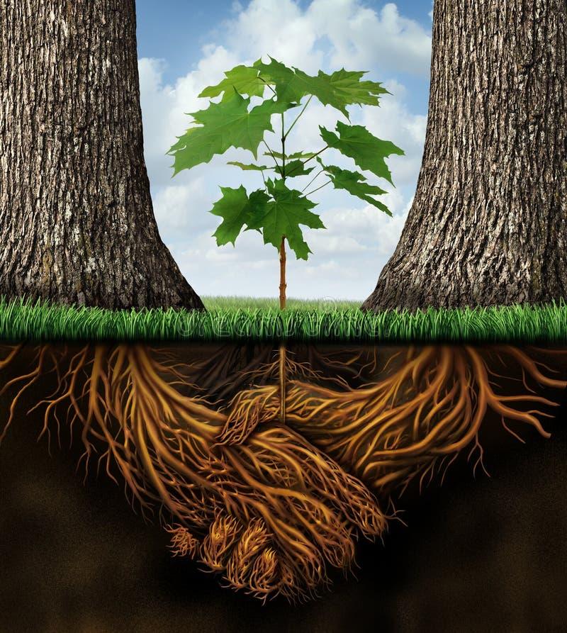Ny näringslivsutveckling stock illustrationer