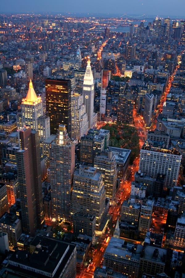 ny natt york arkivbild
