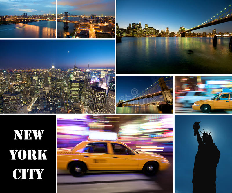 ny natt york för stad royaltyfri foto