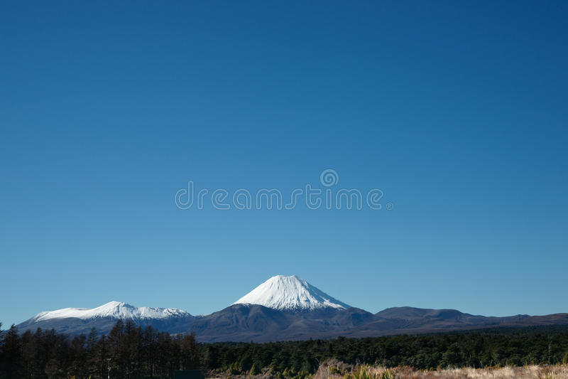 ny ngarauhoe vulkaniska zealand för kottemontering royaltyfri fotografi