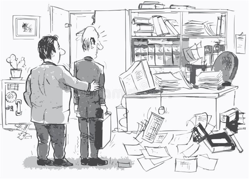 ny nykomlingarbetsplats stock illustrationer