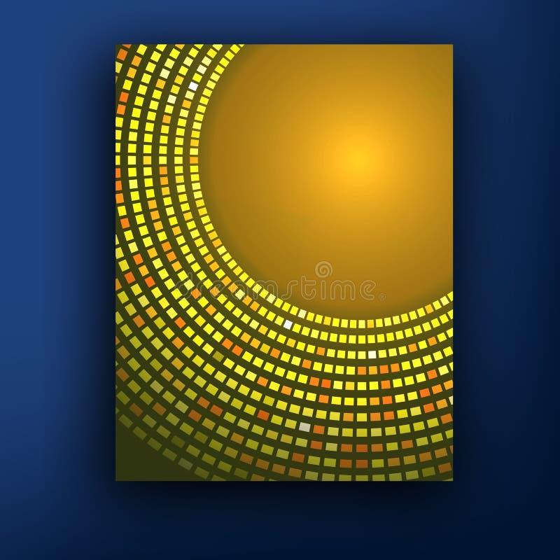 Ny orange sunburst affärsvektorbakgrund royaltyfri illustrationer