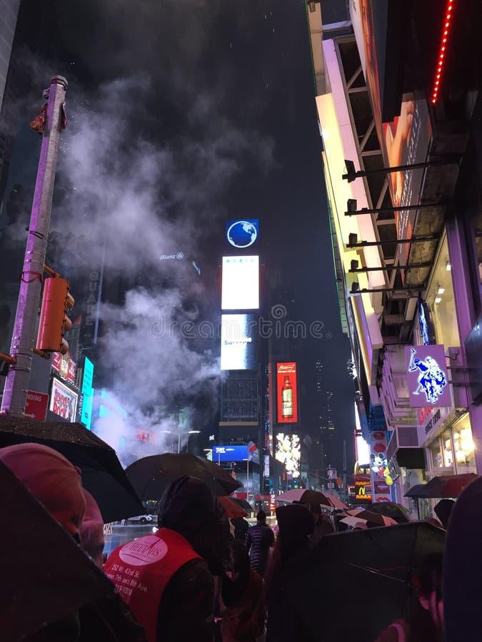 NY på natten royaltyfri fotografi