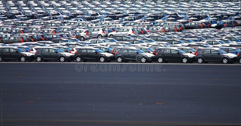 ny p för bilfabrik arkivbild