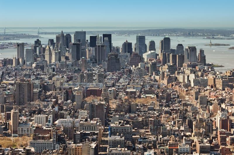 ny panorama york för stad fotografering för bildbyråer