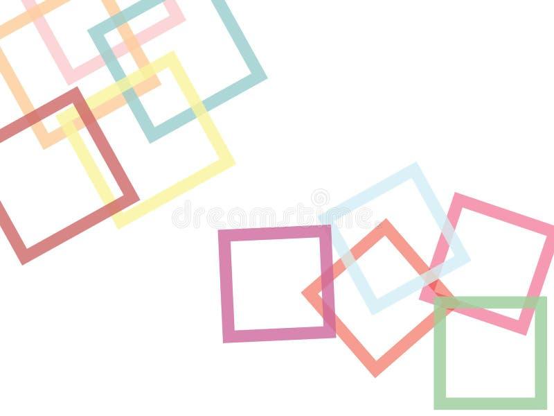 Ny pastellfärgad dimensionell tapetbakgrund vektor illustrationer