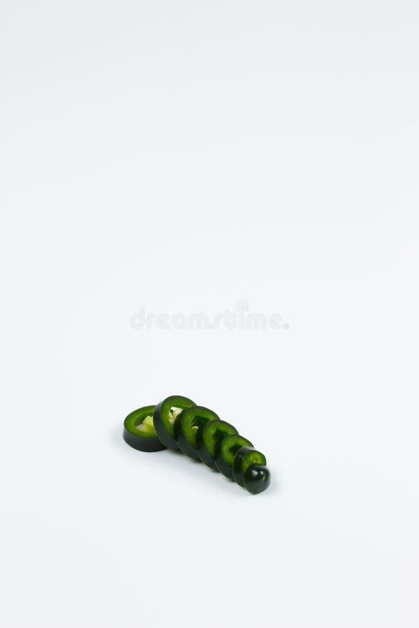 Ny peppar för JalapenoMaxican chili i isolerad bakgrund royaltyfri foto
