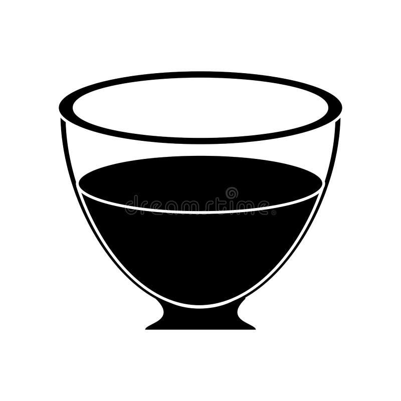 Ny pictogram för Glass koppte vektor illustrationer