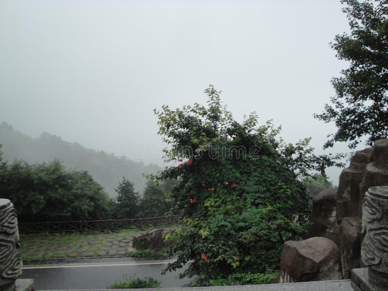 Ny plats på det kinesiska berget arkivfoton