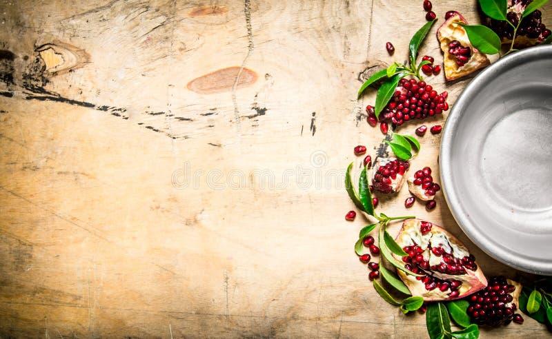 ny pomegranatered arkivbild