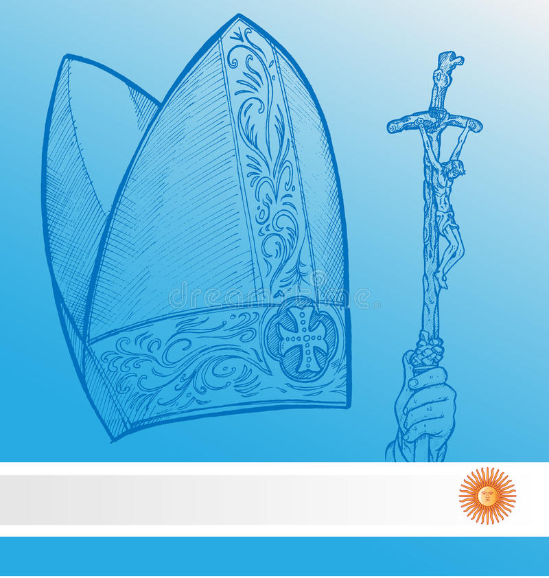 Vatican symbolwhit argentina sjunker vektor illustrationer