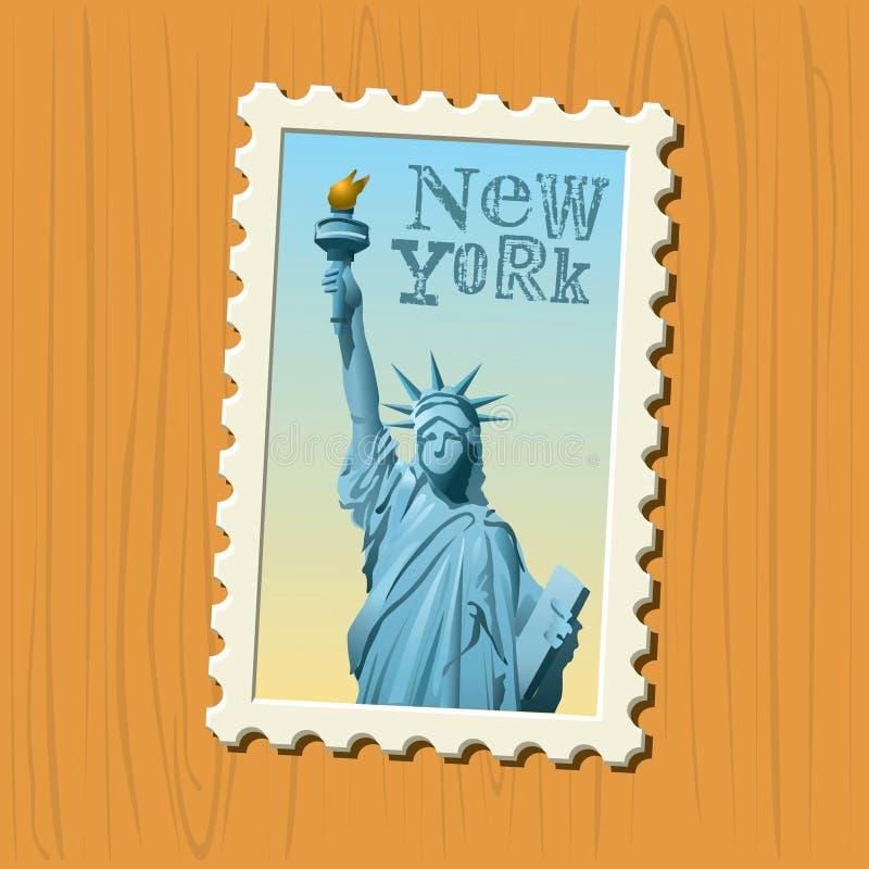 ny portostämpel york stock illustrationer