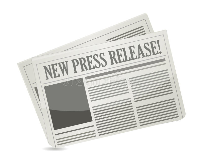 Ny pressrelease stock illustrationer