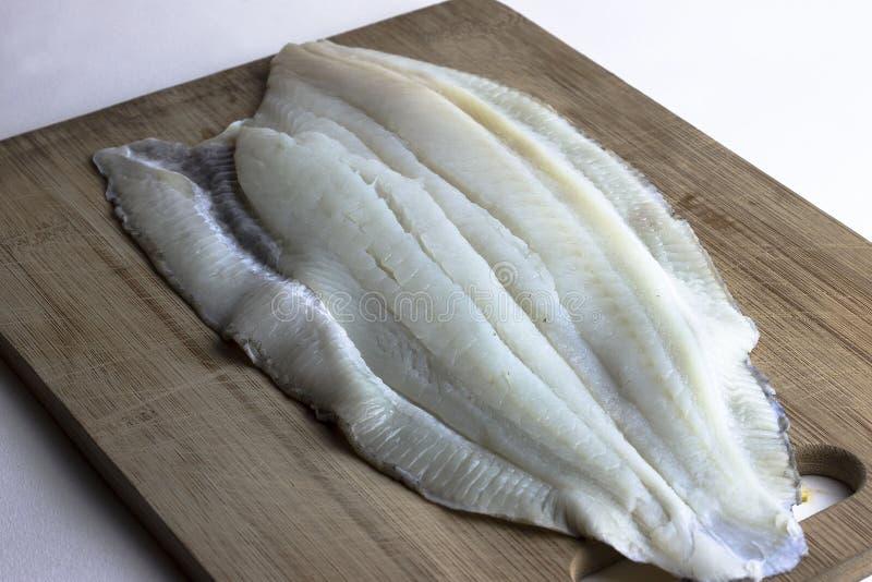 Ny, rå okokt endast fiskfilé fotografering för bildbyråer