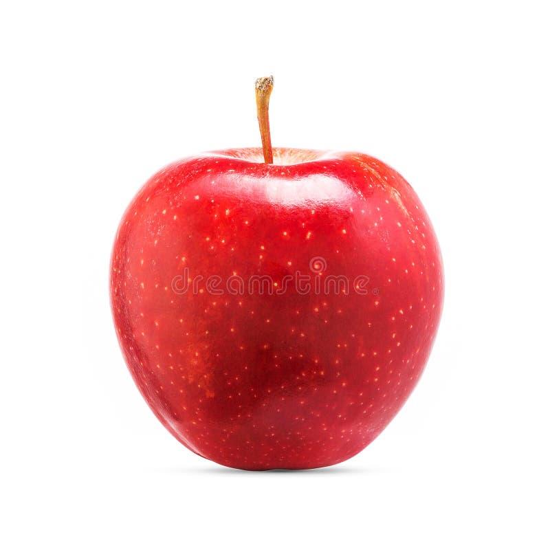 Ny röd äpplefrukt som isoleras på vit bakgrund royaltyfri bild