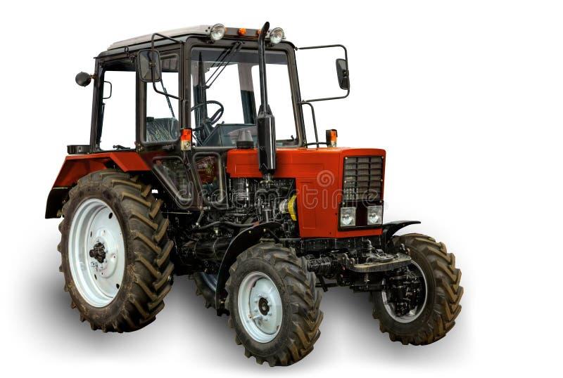 ny röd traktor royaltyfri foto