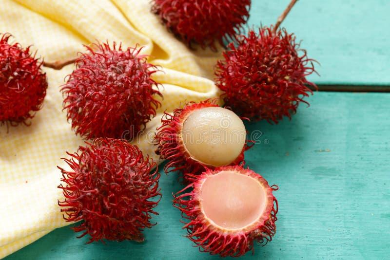 Ny rambutan för tropisk frukt arkivbild