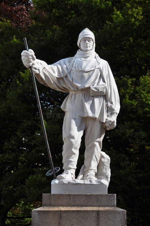 ny robert scott för christchurch falk staty royaltyfria foton