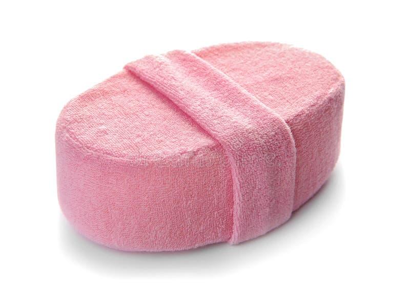 Ny rosa färgbadsvamp arkivbild