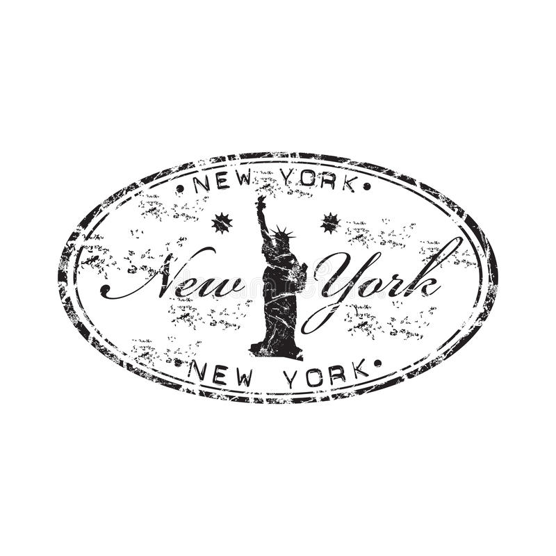 ny rubber stämpel york stock illustrationer