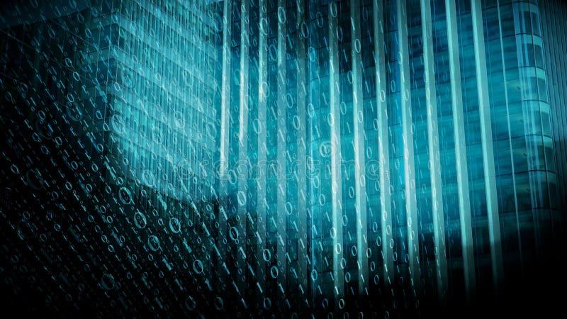 Ny säkerhet för cybervärldsnätverk stock illustrationer