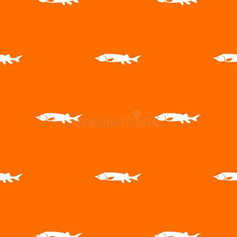 Ny sömlös störfiskmodell vektor illustrationer