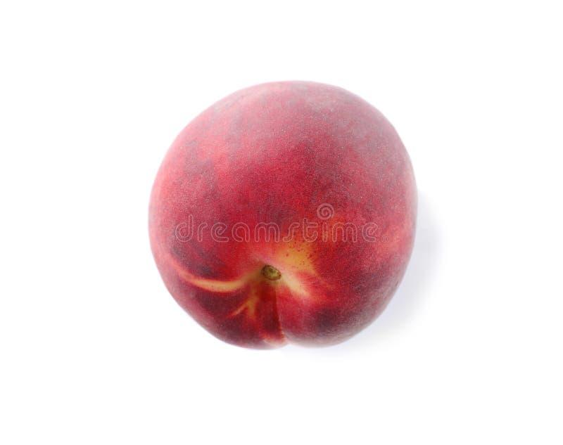 Ny söt saftig persika på vit royaltyfri fotografi