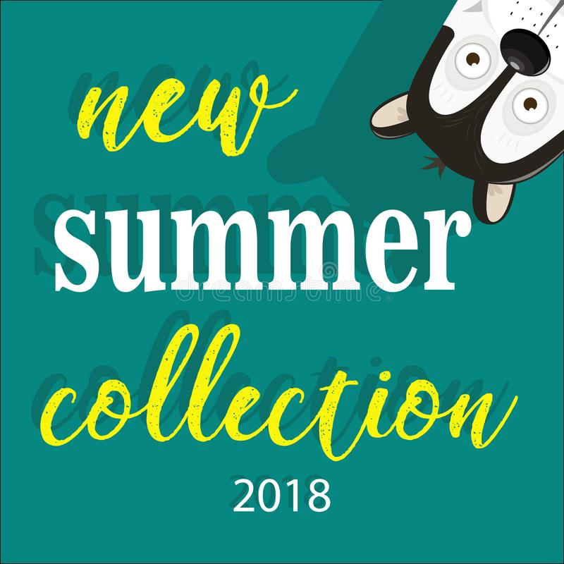 Ny samling av handskriven text för sommar för etiketter som annonserar stock illustrationer
