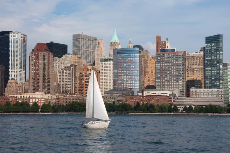 ny scrappersky york för stad royaltyfri fotografi