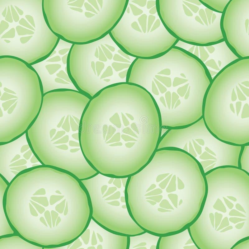 Ny skivad sömlös modell för gurkor stock illustrationer