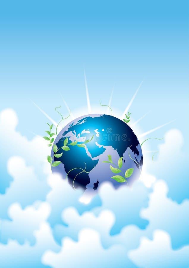 ny sky för jord royaltyfri illustrationer