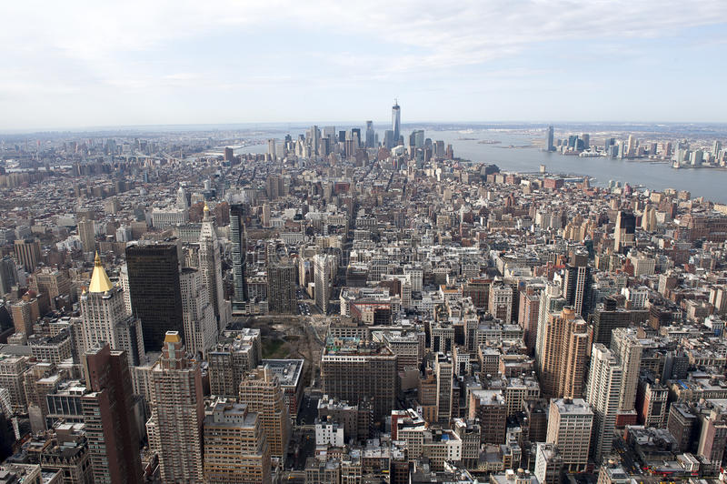 NY-Skylinewolkenkratzer vom Empire State Building lizenzfreies stockfoto