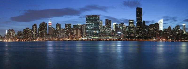 ny skymning york för stad arkivbilder