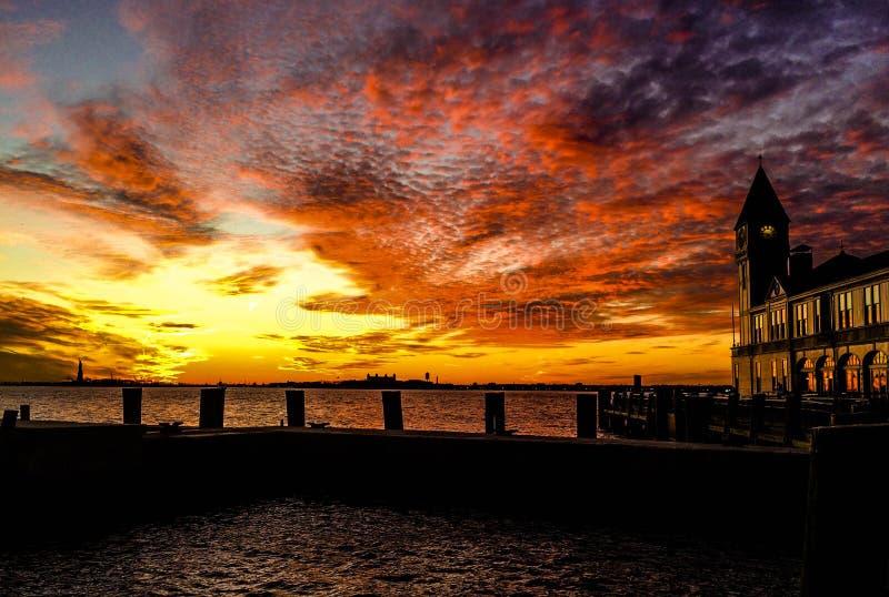 ny solnedgång york royaltyfri bild