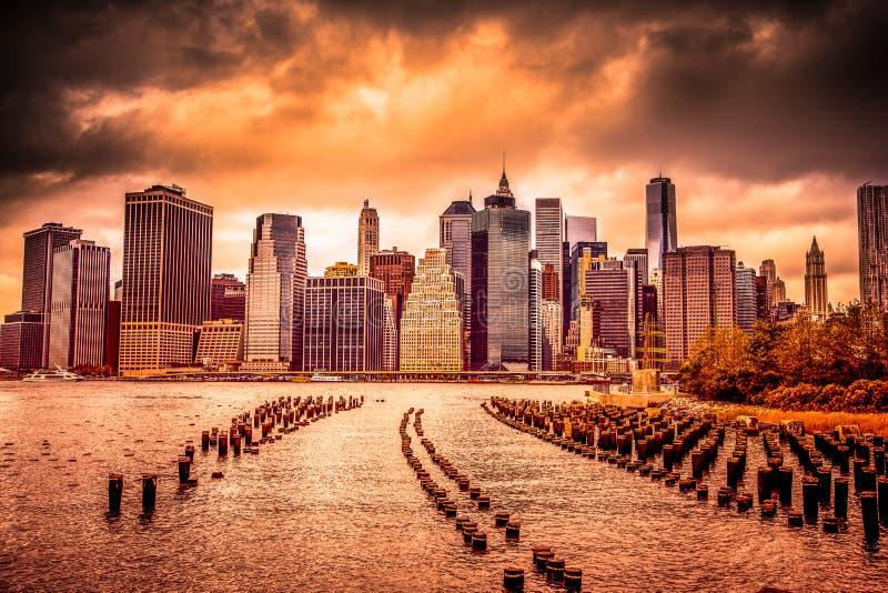 ny solnedgång york för stad