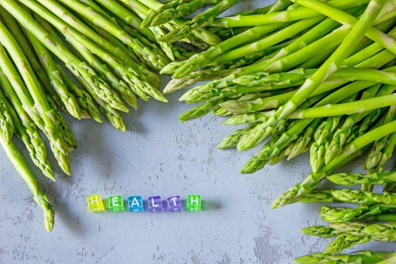 Ny sparris för sund skörd och VÅRD- ` för `, royaltyfria foton